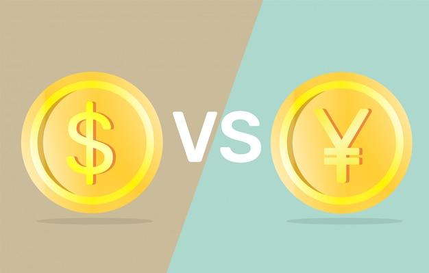 Dollar vs yuan.