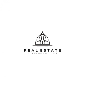 Dome building, immobilier logo