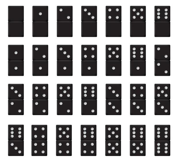 Domino réaliste noir en plastique