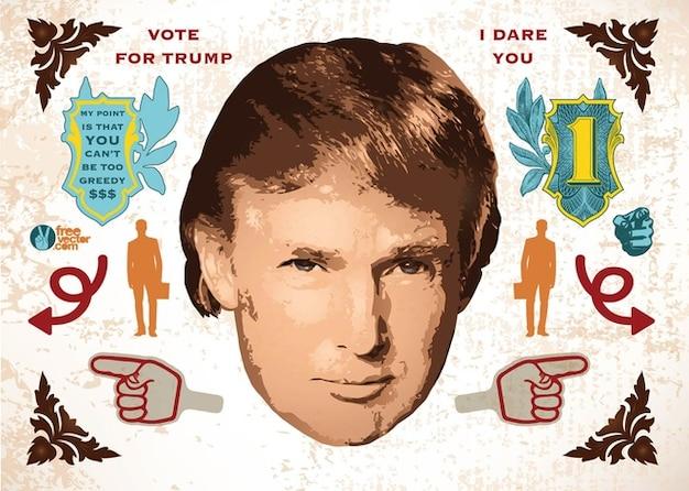 Donald trump vectoriel