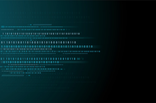 Données binaires et fond de code binaire en streaming
