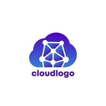 Données dans le logo cloud, icône vectorielle