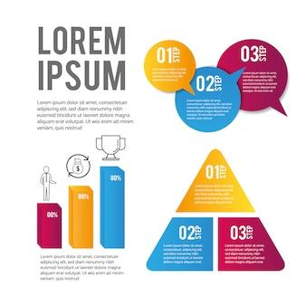 Données d'entreprise et informations de stratégie infographiques