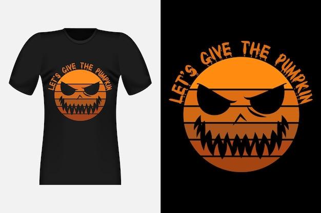 Donnons à la citrouille un design de t-shirt rétro vintage