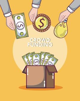 Dons de crowdfunding et concept d'investissement