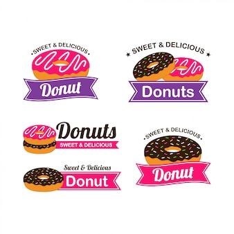 Donut logo design vector