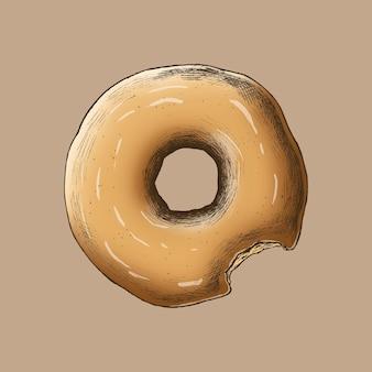 Donut vintage fraîchement cuit
