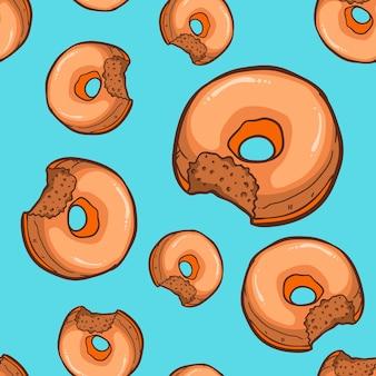 Donuts seamless illustration vectorielle