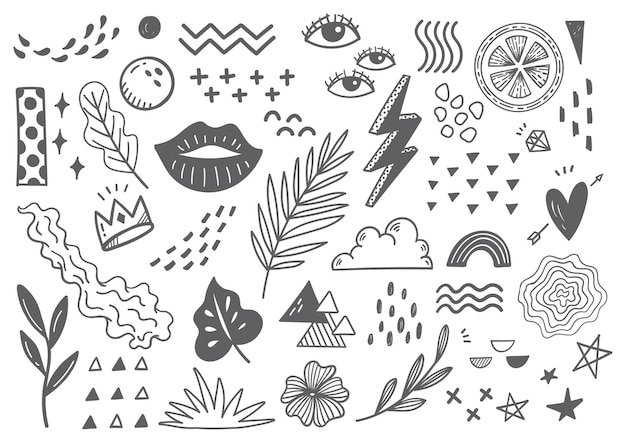 Doodle abstrait dessiné à la main
