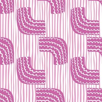 Doodle abstrait figures motif géométrique sans soudure sur fond de lignes. illustration. parfait pour la papeterie, le papier d'emballage, la marque, le marketing et le tissu pour enfants.
