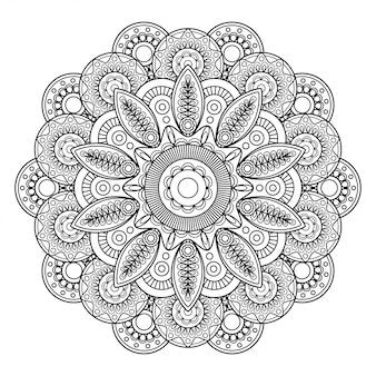 Doodle boho motif floral