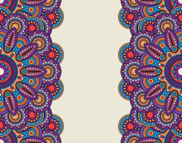 Doodle bordures florales ornées