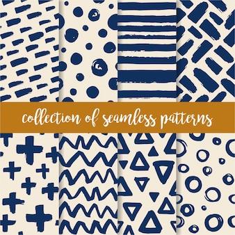 Doodle collection de textures dessinées à la main artistique