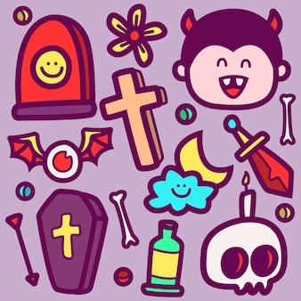 Doodle de dessin animé halloween