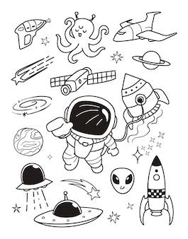 Le doodle du cosmonaute