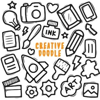 Doodle élément créatif dessiné à la main
