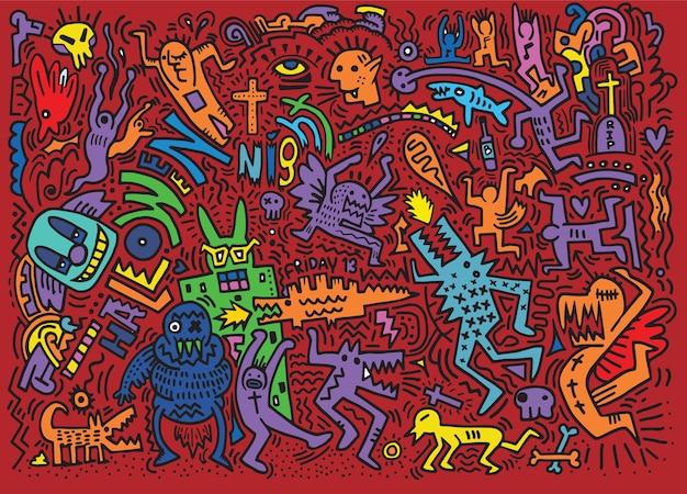 Doodle fête d'halloween