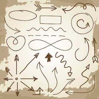 Doodle flèches et symboles