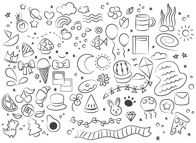 Doodle de gribouillis abstrait dessiné à la main