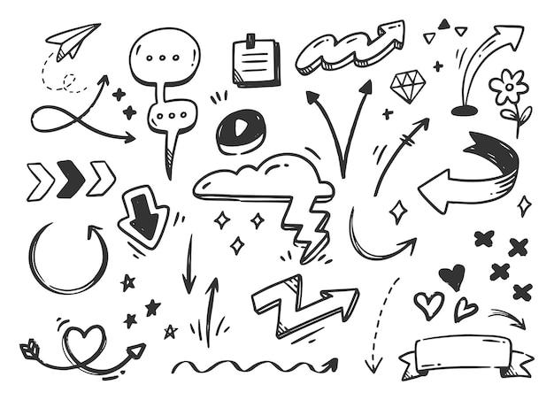 Doodle de griffonnage abstrait dessiné à la main