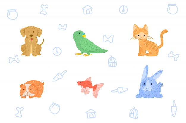 Doodle hand draw animal