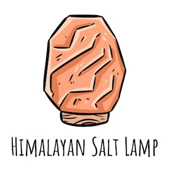 Doodle de lampe de sel de l'himalaya.
