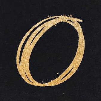 Doodle met en évidence le vecteur d'insigne rond dans le ton or