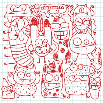 Doodle mignon monstre