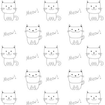 Doodle modèle de chat mignon