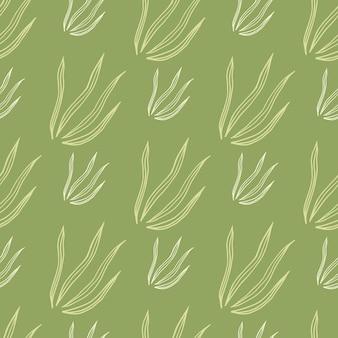 Doodle motif eamless d'herbes. fond d'écran botanique nature. ornement décoratif. conception pour tissu, impression textile, emballage, couverture. illustration vectorielle.