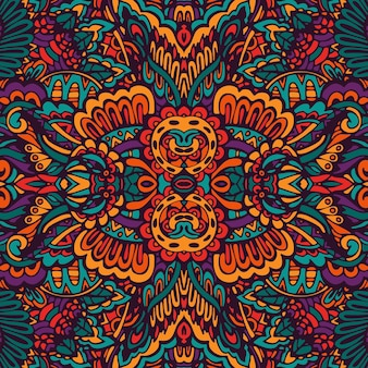 Doodle motif de médaillon floral paisley.