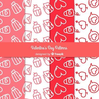 Doodle motifs de valentine