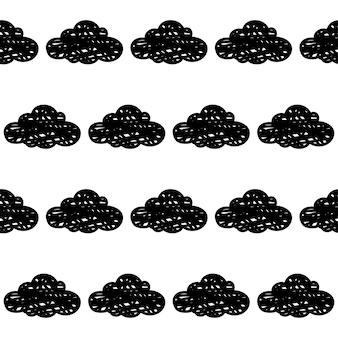 Doodle nuages sans soudure de fond. échantillon de nuages abstraits pour carte, invitation, affiche, textile, impression de sac, publicité d'atelier moderne, t-shirt, etc.