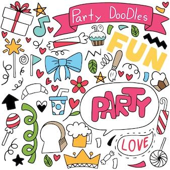 Doodle parti dessiné à la main