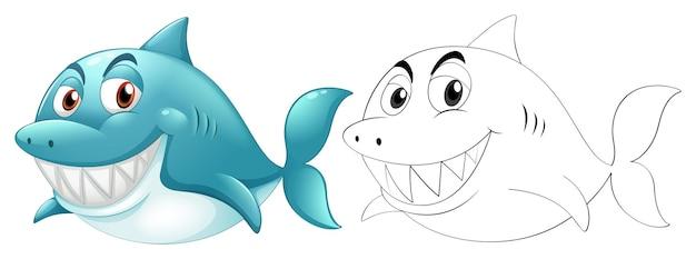 Doodle personnage animal pour requin