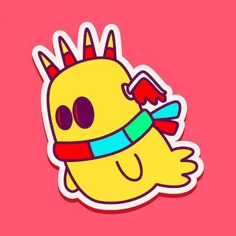 Doodle de personnage de monstre mignon