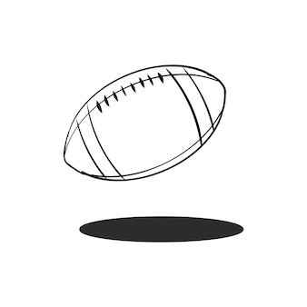 Doodle rugby ball vector