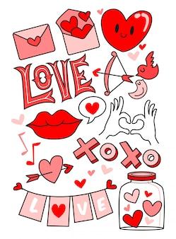 Doodle vecteur d'amour