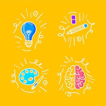 Doodles de créativité dessinés à la main