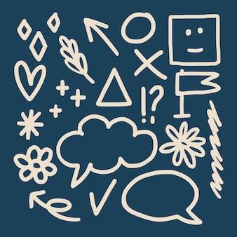 Doodles sur un papier