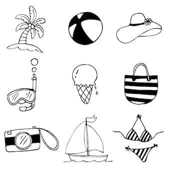 Doodles de vacances d'été