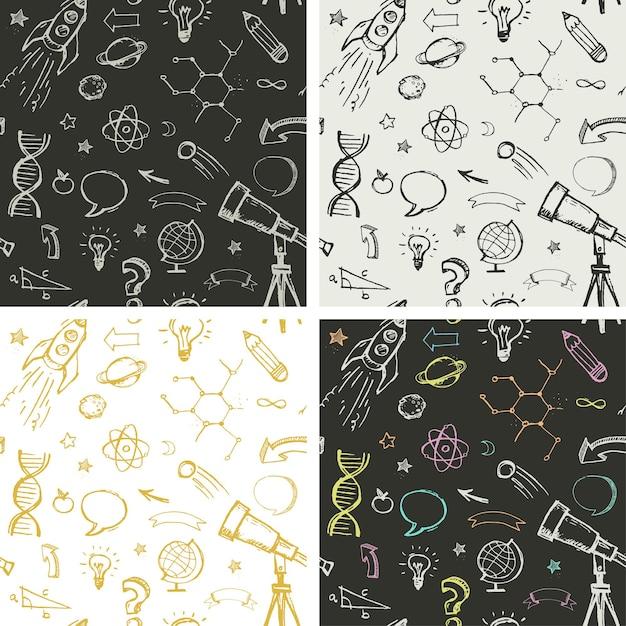 Doodles vectoriels dessinés à la main