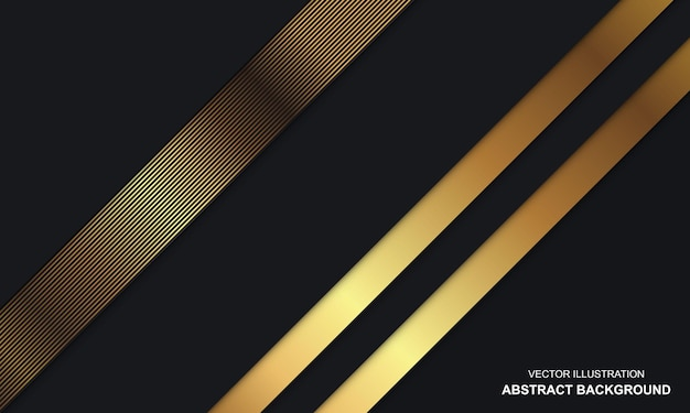 Dop noir abstrait moderne et design de luxe doré
