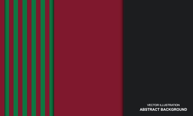 Dop noir avec un design moderne de couleur rouge et verte