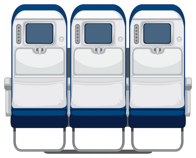 Dos du siège de l'avion