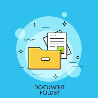 Dossier de documents illustration ligne mince
