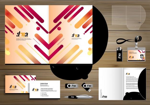 Dossier identité de l'entreprise promotion de la conception papeterie