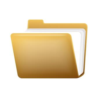 Dossier ouvert avec des documents