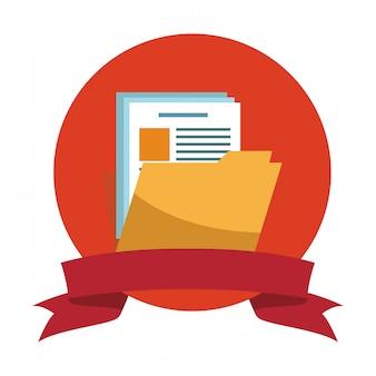 Dossier avec symbole de document