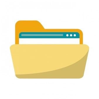 Dossier avec symbole de site web